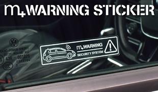 m+ WARNING STICKER