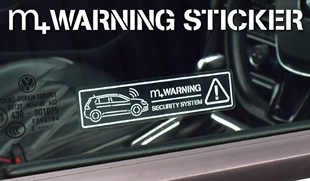 m+ WARNING STICKER